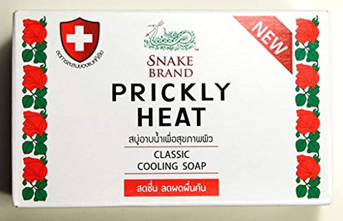 情報動機付ける部分Prickly Heat Cooling Soap Snake Brand 100g X 2