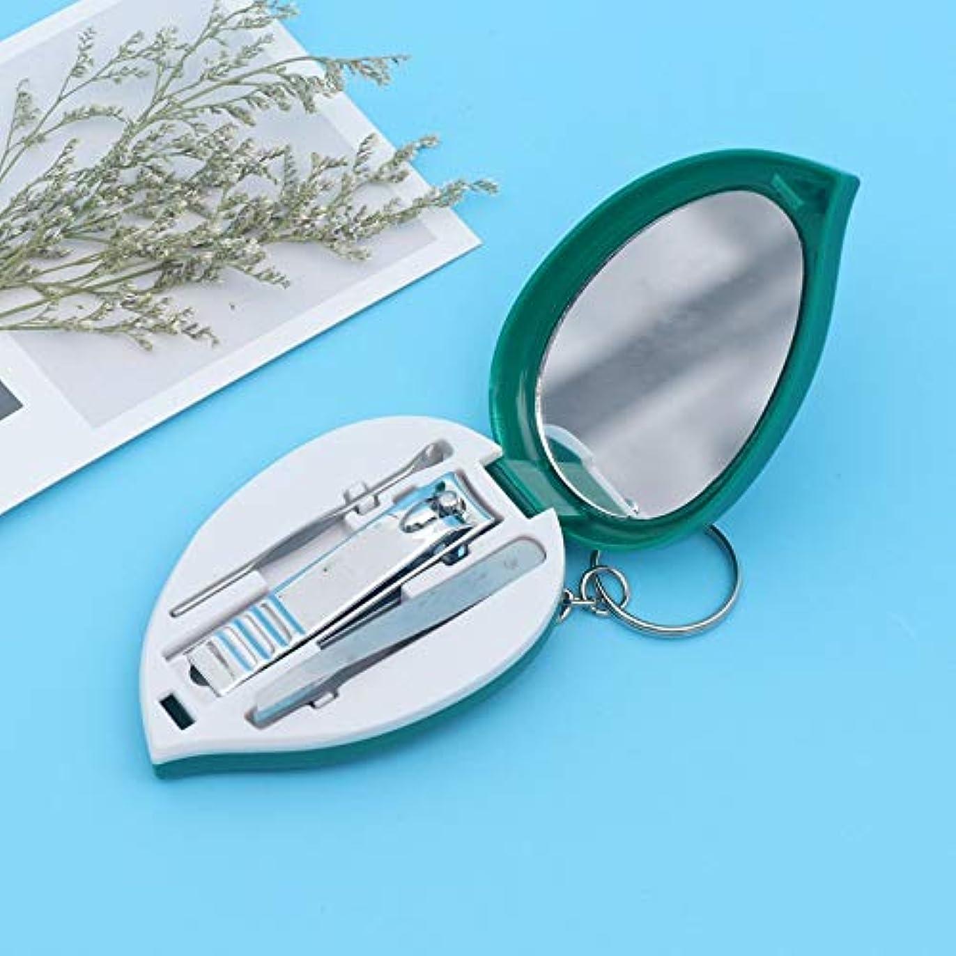 クラウドブロックキャラクターステンレス鋼の家の美の釘用具セットの爪切りの爪切りセットの眉毛クリップ爪切り3部分セット
