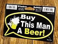 ステッカー 吹き出し この男にビールおごって!_SC-DDTT7049-MON