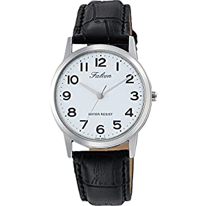 [シチズン キューアンドキュー]CITIZEN Q&Q 腕時計 Falcon ファルコン アナログ 革ベルト ホワイト QA32-304 メンズ