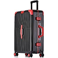 Cooralledtooere Universal Wheel Business Trolley case 20 inch Aluminum Frame Password Box Boarding case, Business Suitcase Luggage Box (Color : Black)