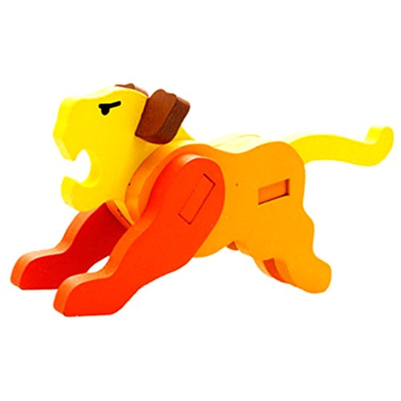 SONONIA 可愛い 虎 3D 木製 組み立てパズル セット 積み木 知育玩具 多彩