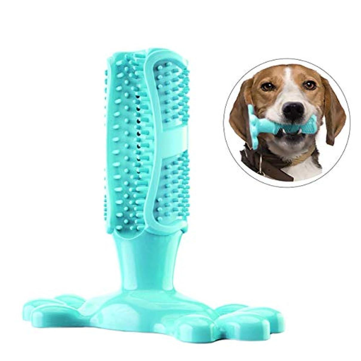 感謝芸術的タンカー犬用歯磨きおもちゃ歯磨き棒 柔らかい犬かむ玩具 歯石予防 360度清潔 耐久性 天然ゴム 安心使用