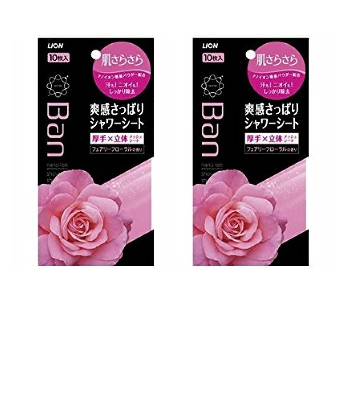 疾患カセットコカインBan 爽感さっぱりシャワーシート フェアリーフローラルの香り 36枚 ×2セット