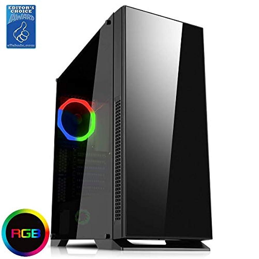 常習者不利益誓約Game Max GMX-Hush サイレントゲームケース ガラスサイドウィンドウ付き RGB リアファン ブラック