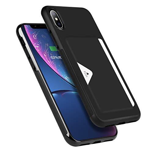 f9558d2f09 Hokonui iPhone XS ケース iPhone X ケース 薄型 ICカード収納 TPU+レザー 耐衝撃 滑り