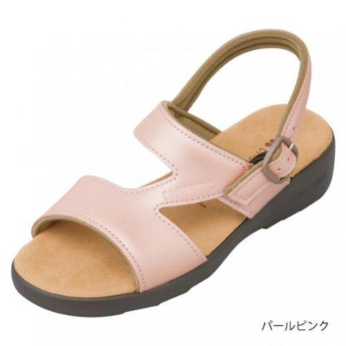 (クロワッサン)CROISSANTBasicサンダル日本製・本革4592 (L (24~24.5cm), パールピンク)