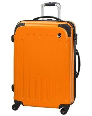 TSAロック搭載 スーツケース キャリーバッグ newFK10371 オレンジ S型(2~4日用) マット加工ファスナー開閉タイプ