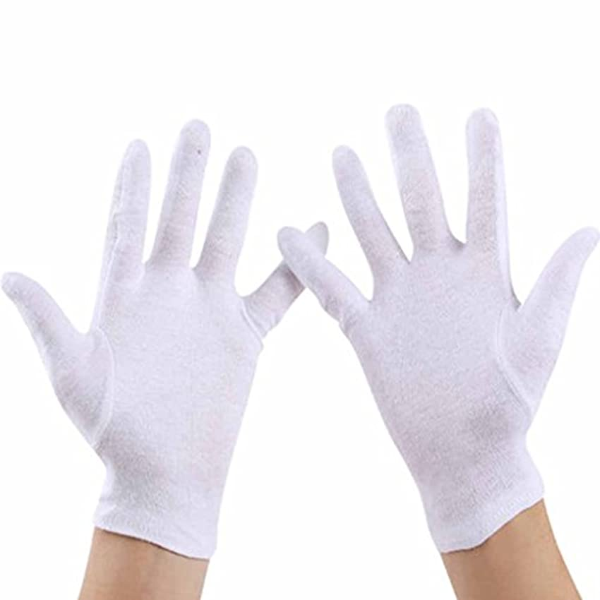 キロメートルアーク商人使い捨て手袋 ホワイトエチケットコットン手袋、快適で 吸収性手袋 (Size : L)