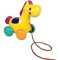 プル玩具、nacolaキュートなポニーデザインベビーPush Pull Toy For Toddler Learningウォーカー