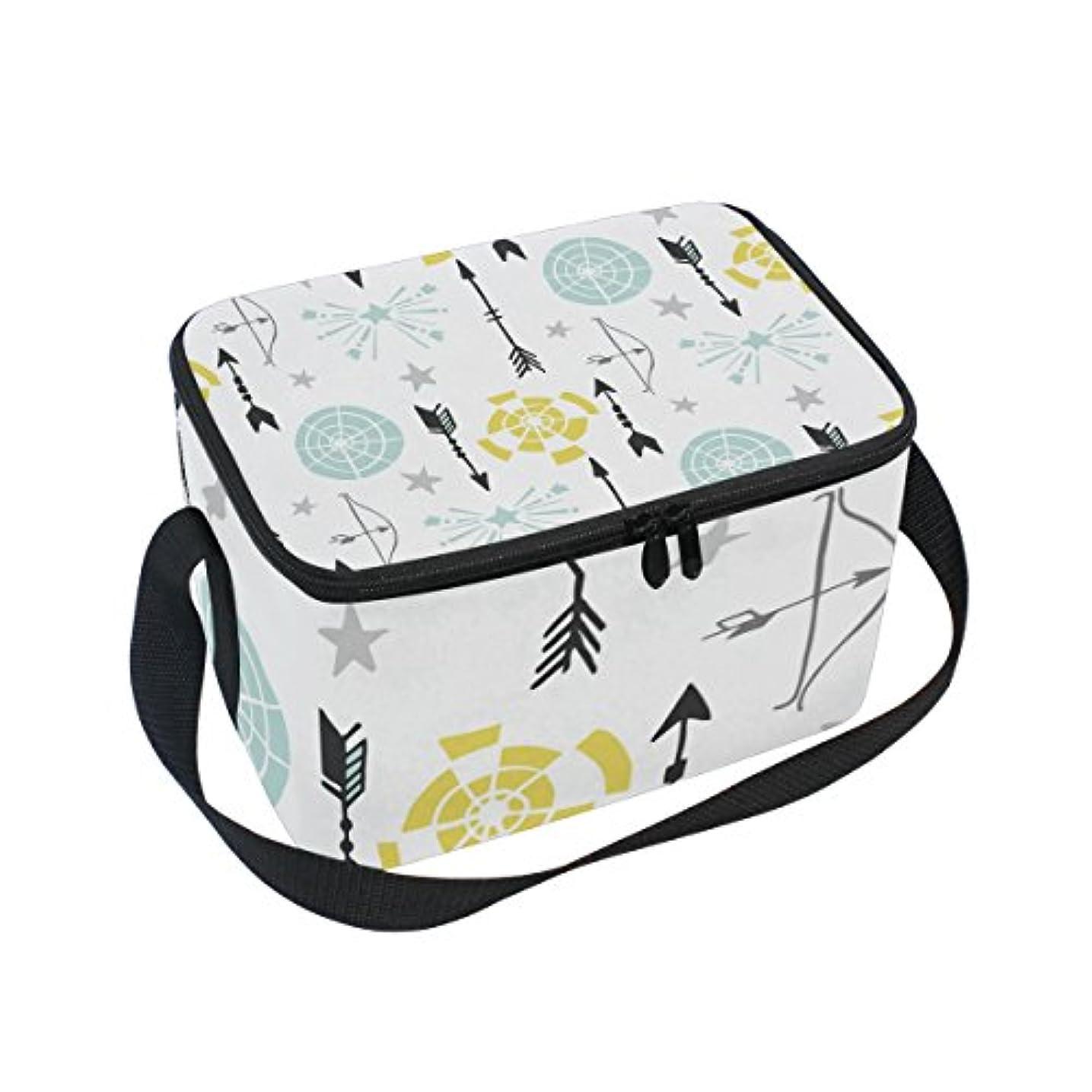 変形するスピーチアンドリューハリディクーラーバッグ クーラーボックス ソフトクーラ 冷蔵ボックス キャンプ用品 矢と的柄 保冷保温 大容量 肩掛け お花見 アウトドア