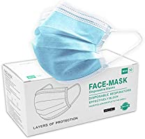 William Klein 50 PCS Face Mask 3 Ply Breathable Ear Loops Disposable Masks Blue - Shipped from Australia