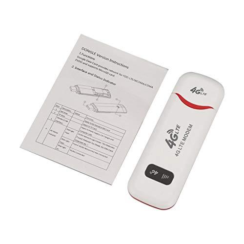 3G / 4G LTE WifiルーターUSBモデムスティックネットワークアダプターワイヤレスWiFiホットスポットルーターモデム屋外ワイヤレス共有-ホワイト