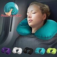 ポータブル U 字型インフレータブル旅行枕車のエアクッション旅行オフィス昼寝ヘッドレストエアクッション首枕