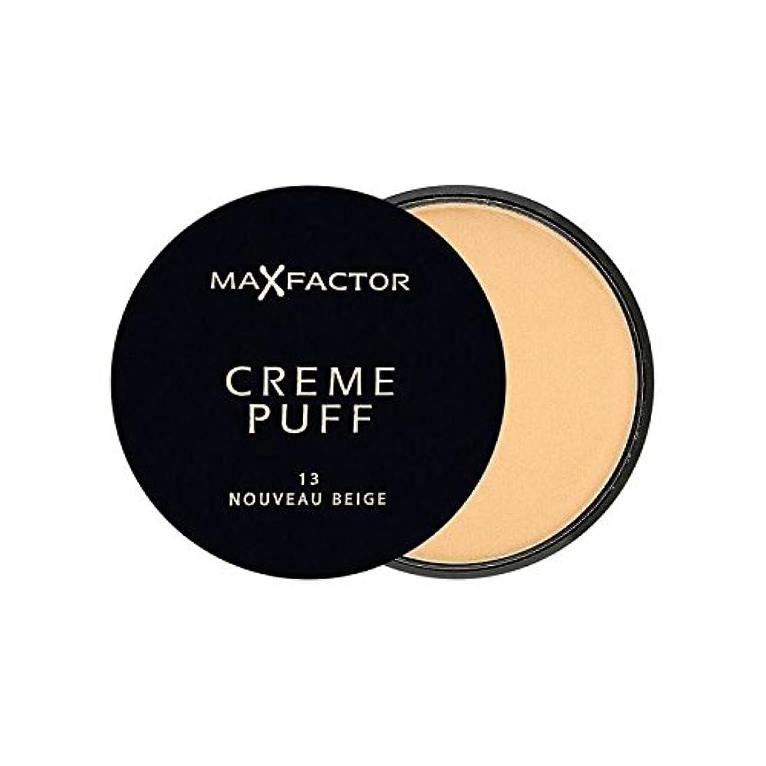 ビデオ市区町村容器マックスファクタークリームパフ粉末コンパクトヌーボーベージュ13 x4 - Max Factor Creme Puff Powder Compact Nouveau Beige 13 (Pack of 4) [並行輸入品]