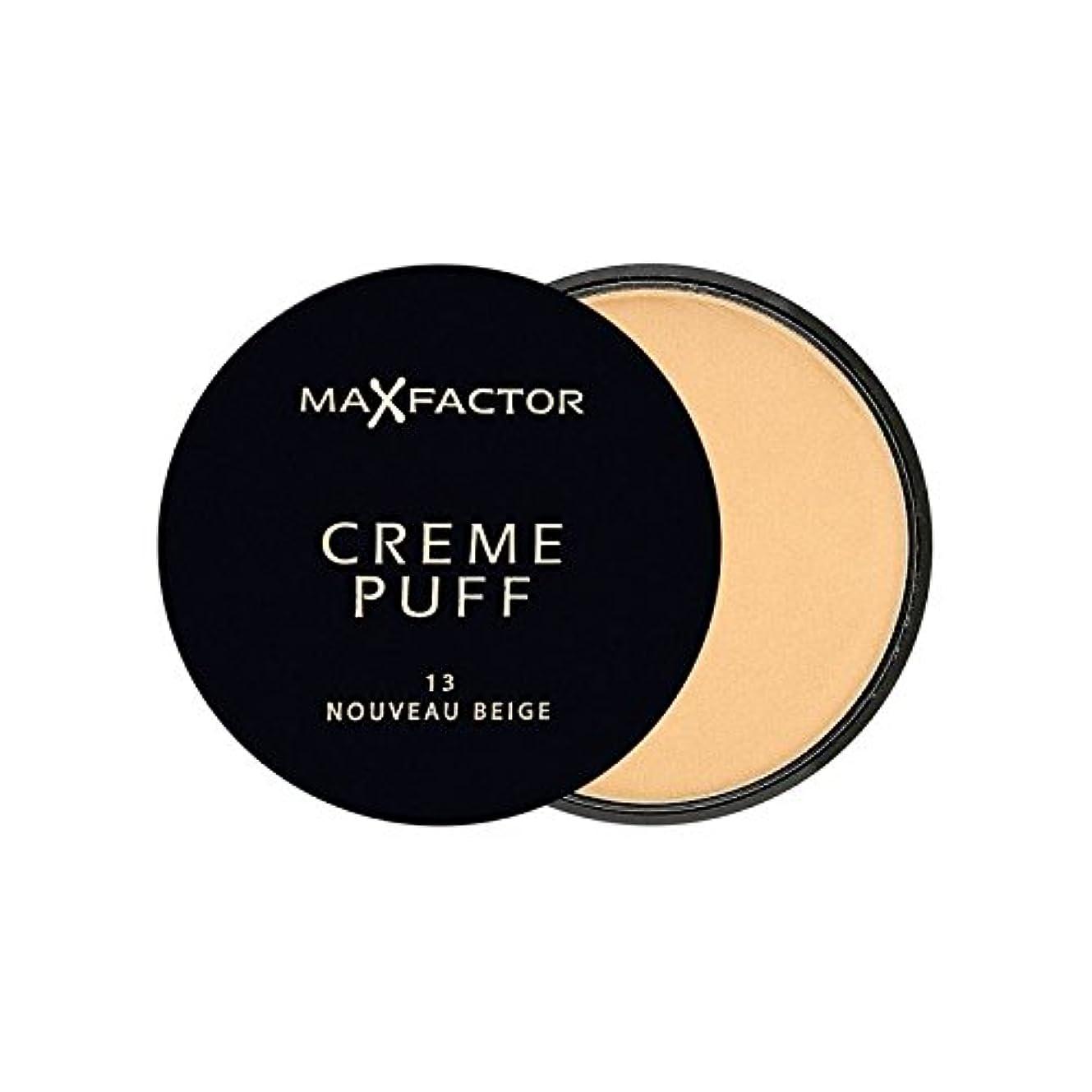 なだめる空理解Max Factor Creme Puff Powder Compact Nouveau Beige 13 (Pack of 6) - マックスファクタークリームパフ粉末コンパクトヌーボーベージュ13 x6 [並行輸入品]