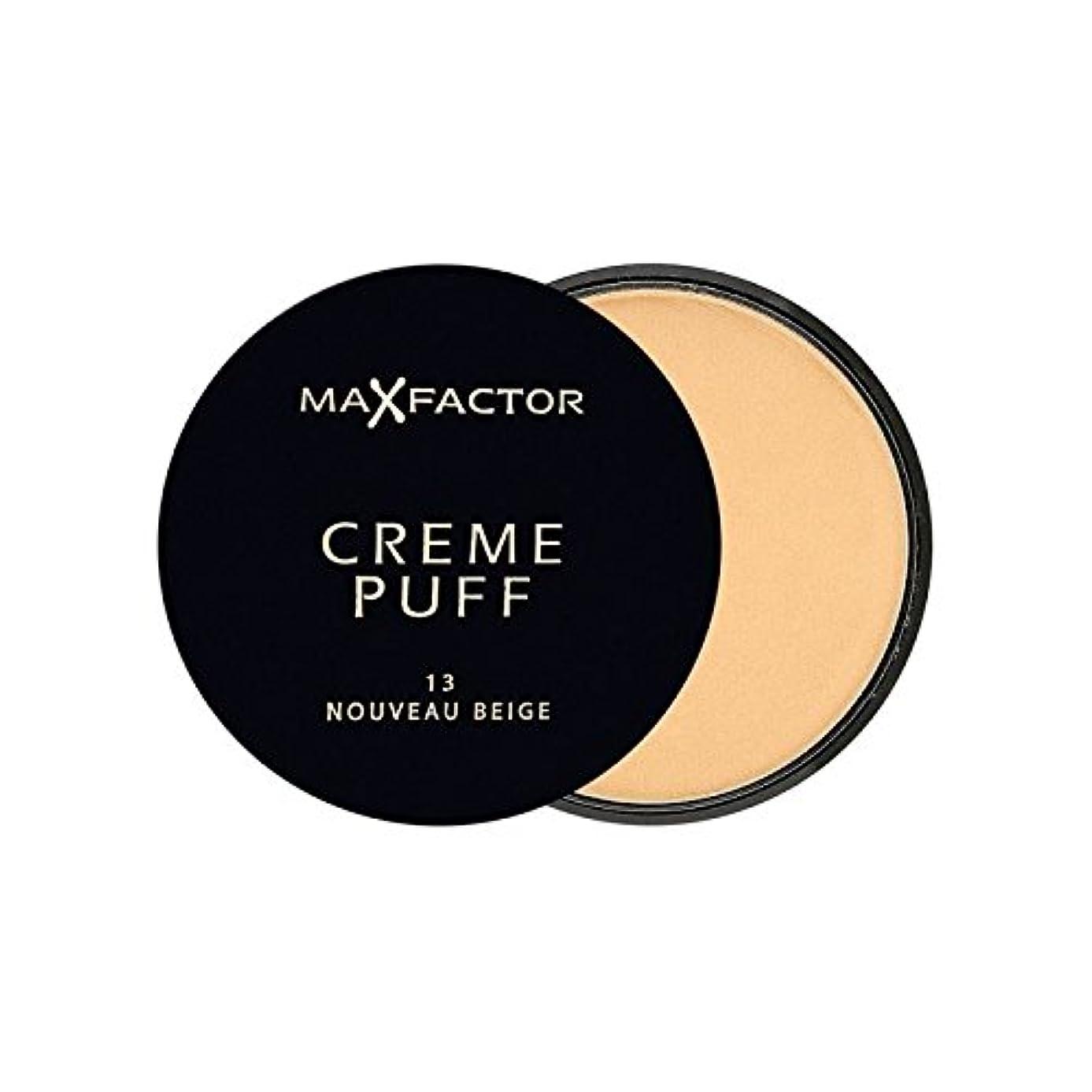 シーケンス刺繍デザイナーマックスファクタークリームパフ粉末コンパクトヌーボーベージュ13 x2 - Max Factor Creme Puff Powder Compact Nouveau Beige 13 (Pack of 2) [並行輸入品]