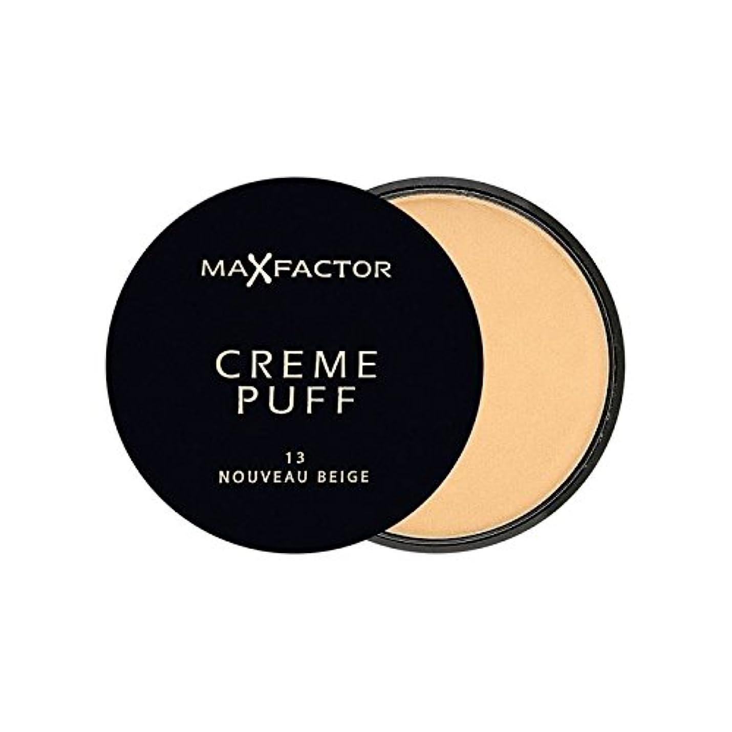 革新晩ごはんあいまいさMax Factor Creme Puff Powder Compact Nouveau Beige 13 - マックスファクタークリームパフ粉末コンパクトヌーボーベージュ13 [並行輸入品]