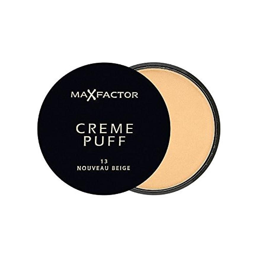 光電慢避難するマックスファクタークリームパフ粉末コンパクトヌーボーベージュ13 x2 - Max Factor Creme Puff Powder Compact Nouveau Beige 13 (Pack of 2) [並行輸入品]