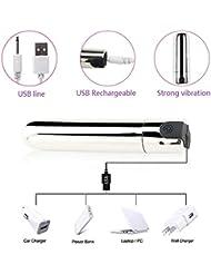 弾丸のマッサージャー - 10種類の振動 - シリコン - USB充電 - あなたのFashional Massager Group
