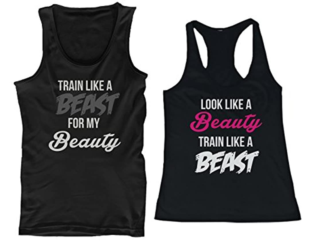 原子オセアニア空白365 Printing His and Her Matching Tank Tops Look Like A Beauty Train Like A Be