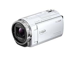 SONY ビデオカメラ Handycam CX535 内蔵メモリ32GB ホワイト HDR-CX535/W
