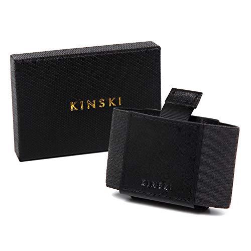 KINSKI(キンスキー) マネークリップ クレジットカードケース 免許証ケース ミニ財布 ミニウォレット【メンズレディース使えるカラーバリエーション】(ブラック)