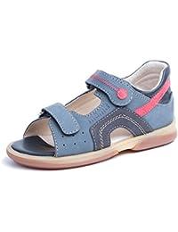 メモ型Szafir 1ha診断ソール足首サポート矯正装具Leather Sandal ( Toddler / Little Kid )