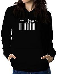 Muher barcode 女性 フーディー
