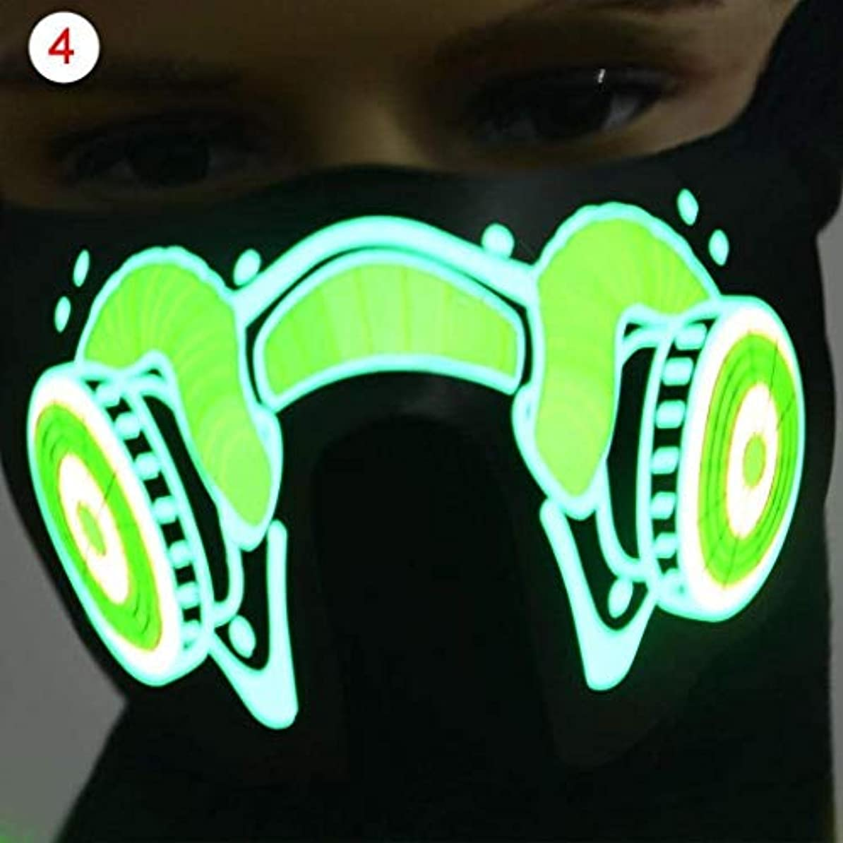 ハロウィーン新年パーティーネックフードのフェイスマスク (Color : 2)