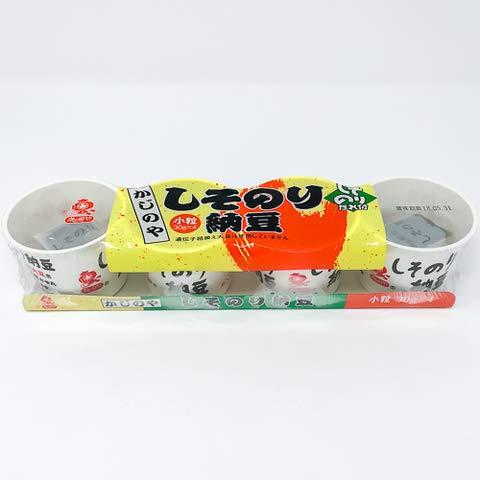 カジノヤ しそのり納豆カップ 30gx4 【冷凍・冷蔵】 3個