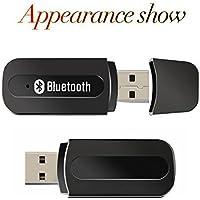 URANT Bluetooth USB レシーバー ミュージックレシーバー ワイヤレス オーディオ ワイヤレス Bluetooth ハンズフリー 3.5 mm 車 Aux オーディオ ステレオ音楽受信アダプター スピーカー アダプタ Phone、iPad、iPhone、Sony、Samsung