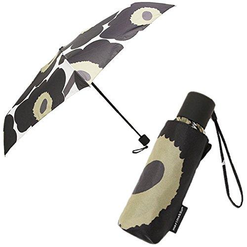 (マリメッコ) MARIMEKKO マリメッコ 傘 MARIMEKKO 038654 030 ピエニ ウニッコ PIENI UNIKKO MINI MANUAL 折り畳み傘 WHITE/BLACK [並行輸入品]