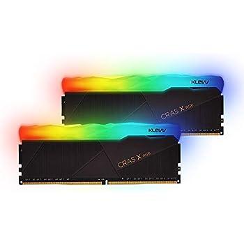 ESSENCORE KLEVV DDR4ゲーミングメモリ/OCメモリ DDR4-3200 16GB x 2枚 国内正規品 CRAS X RGB 288pin KD4AGU880-32A160X