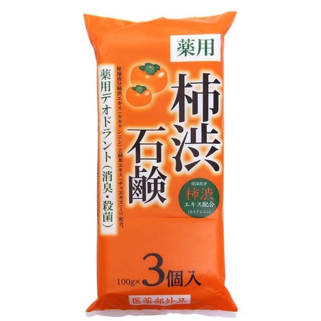 ピニオン大腿銀柿渋石鹸 100g×3個入り