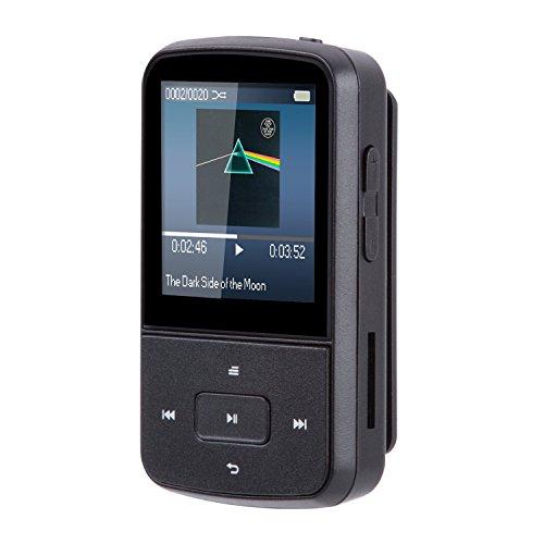 AGPTEK Bluetooth対応 クリップ MP3プレーヤー 高音質 ミニ ミュージックプレーヤー FMラジオ/録音 イヤホ...