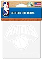 WinCraft NBA ニューヨーク・ニックス ロゴ 4 x 4インチ 屋外用ホワイトデカール