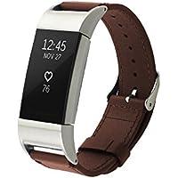 Fitbit Charge 2 バンドPinhen Fitbit Charge2 本革 交換用 クイックリリース式 用時計バンドスマートウォッチ交換ベルト 腕時計ベルト対応Fitbit Charge 2 (Brown)