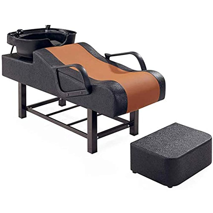 硬化する不正確カードシャンプーの理髪師の逆洗の椅子、スパ美容院パンチベッドフラッシングベッド用シャンプーボウルシンクチェア