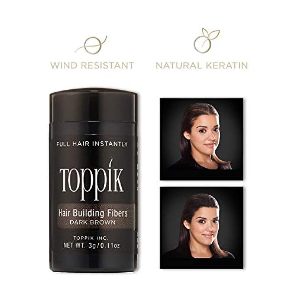 愛国的な検証ホステスToppik Hair Building Fibers - Dark Brown 0.09 oz. small travel size by Spencer Forrest
