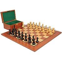 Fierce Knight Stauntonチェスセットin Ebonized Boxwood & Boxwood withマホガニーボード&ボックス – 3