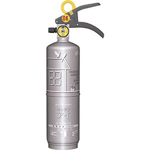 モリタ宮田工業 住宅用強化液(中性)消火器 キッチンアイ プラチナシルバー MVF1HS