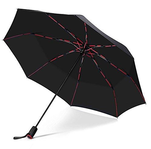 VONDAVO 折り畳み傘 ワンタッチ 自動開閉 折りたたみ傘 傘 雨傘 Teflon加工 高強度グラスファイバー 8本骨 耐風 丈夫 撥水 軽量 大きい 晴雨兼用傘 メンズ レディース 男女兼用