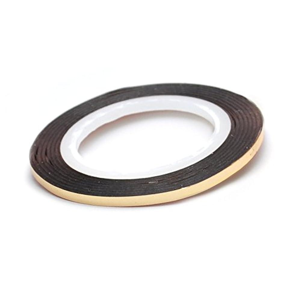 排泄物中央値入るネイル ラインテープ【ライトゴールド】0.8mm ストライピングテープ