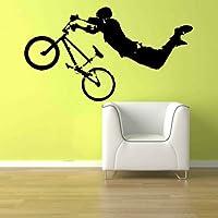 "Giant BMXバイク自転車Kid Teen部屋壁アートリムーバブルホーム装飾ビニールデカールステッカー22"" H x 40"" W Sold byデカールShop"
