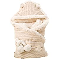 Kflan Baby Wrap/Swaddle/Blanket Organic Cotton Dye-Free All Nature 0-6 Months 31x31 by Kflan