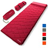 MalloMe Sleeping Pad Camping Air Mattress - Self Inflating Mat Bed for Backpacking Adults - Inflatable Ultralight Insulated Soft Foam Sleep Gear - Lightweight Travel Cot Roll Mats Accessories