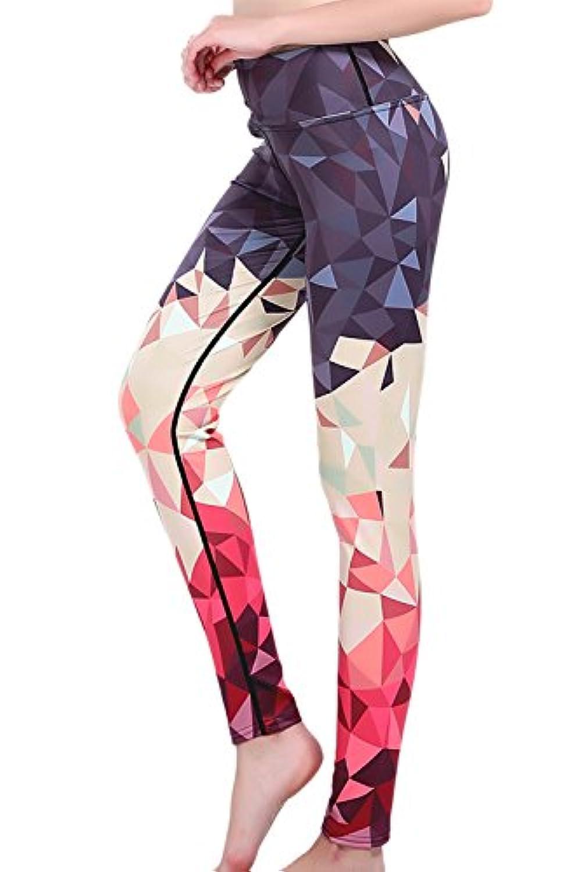 女性の花の印刷されたヨガ?トレーニング?ストレッチレギンスパンツ