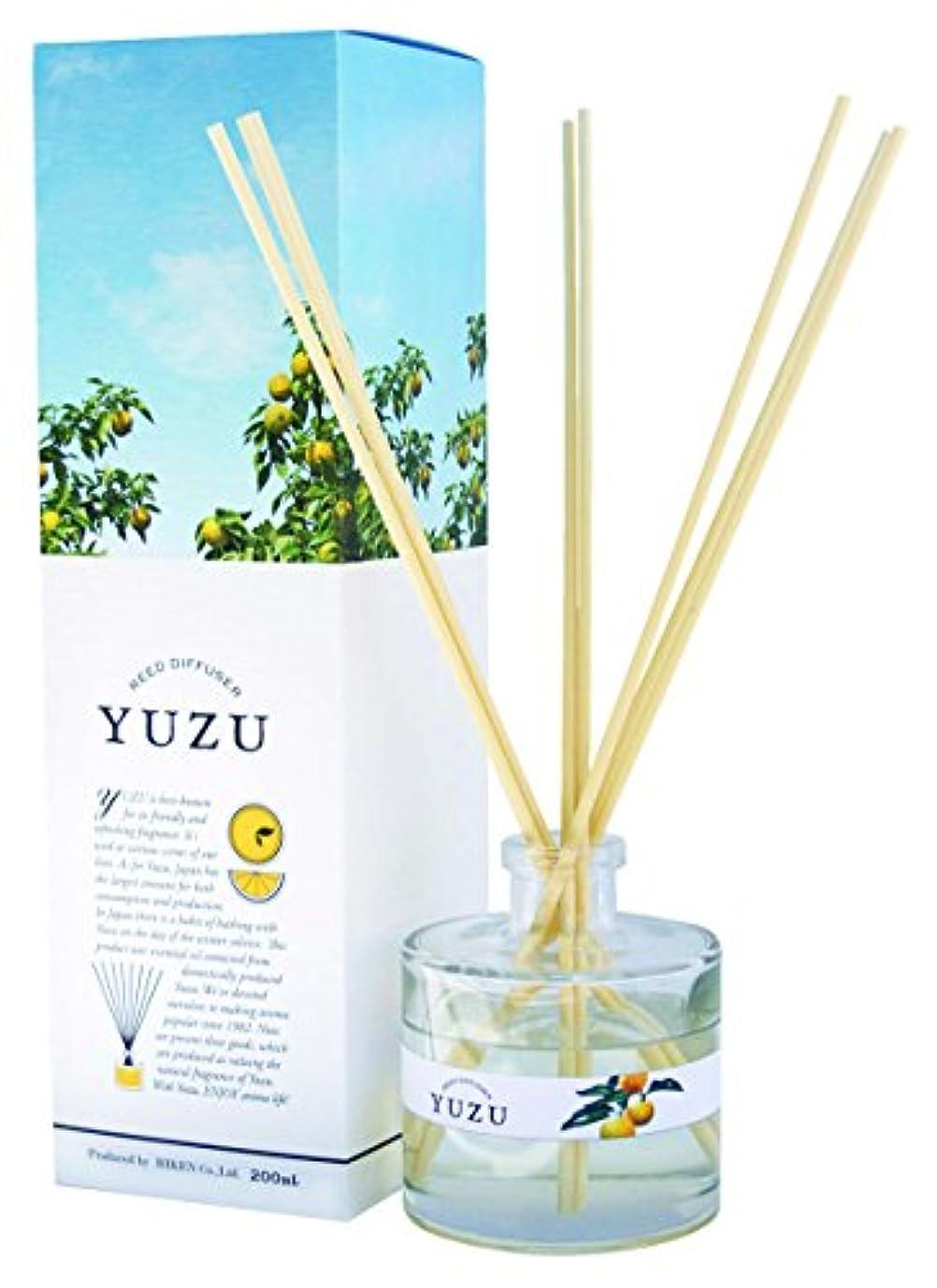 最も真珠のようなしっとり(美健)BIKEN YUZU消臭リードディフューザー 高知県産ゆず精油(香り)配合