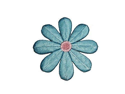 "Altotux 3"" Embroidery Daisy Flower Blue Green White Iron on Applique Motif Patch (Sky Blue) by Altotux [並行輸入品] Leader Textiles & Garments Co."